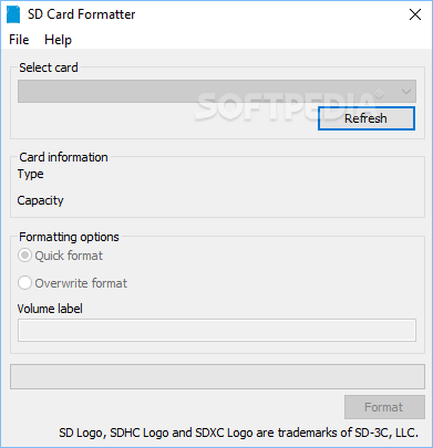 Download SD Memory Card Formatter 5 0 1