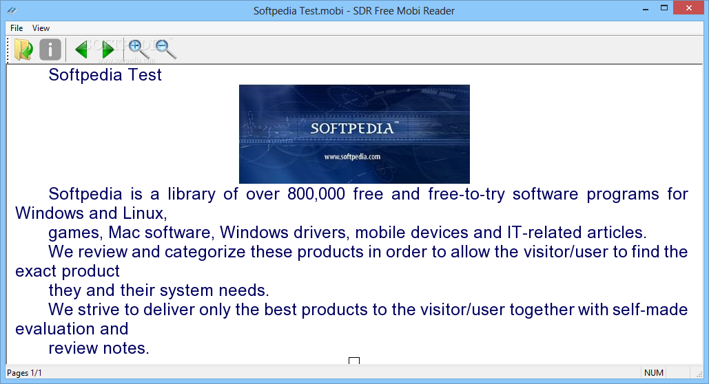 Download SDR Free Mobi Reader 1 0