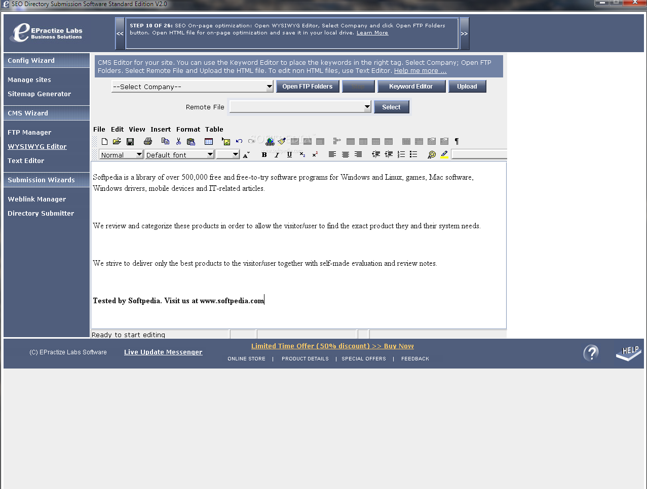 Free Website Submitter - Free download and software ...