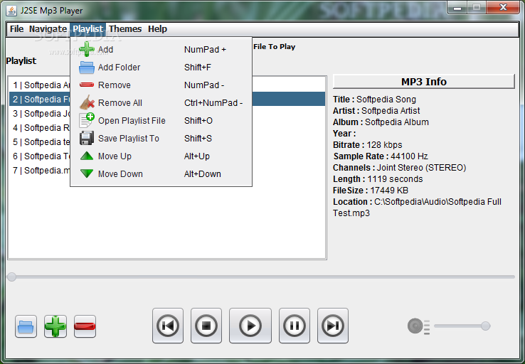 how to add a playlist to mp3 player