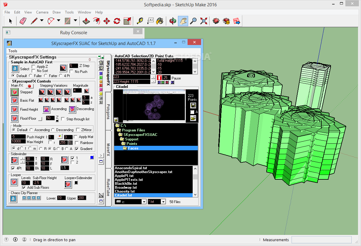 Download SKyscraperFX for SketchUp and AutoCAD 1 1 7