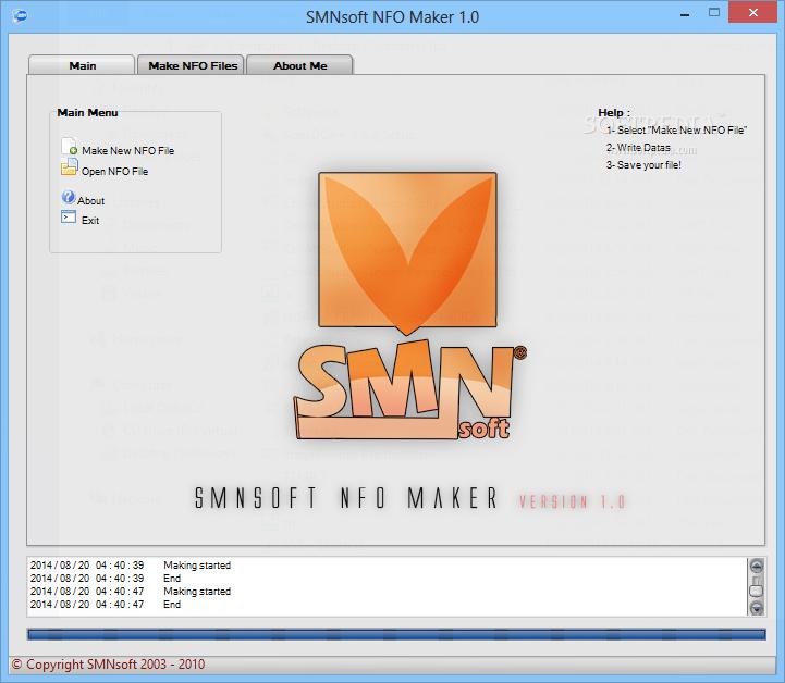 Download SMNsoft NFO Maker 1 0