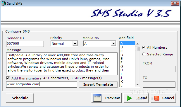 Download sms studio 3. 5.