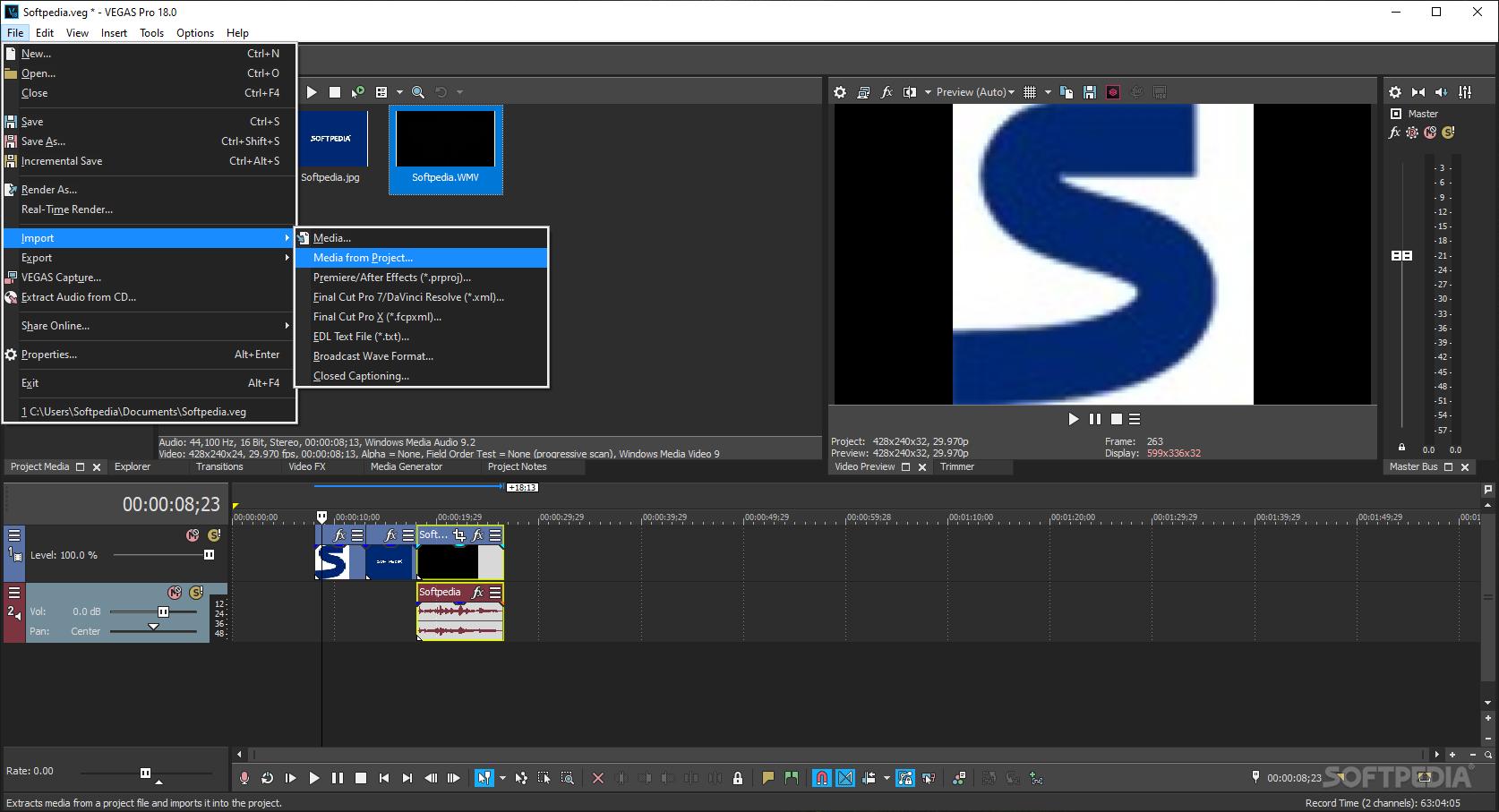 Sony Vegas Pro v8.0b Build 217