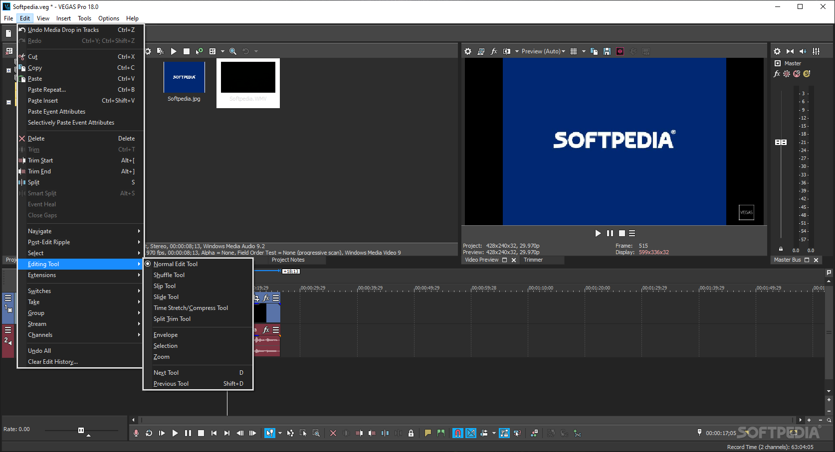 Video editor like sony vegas but free