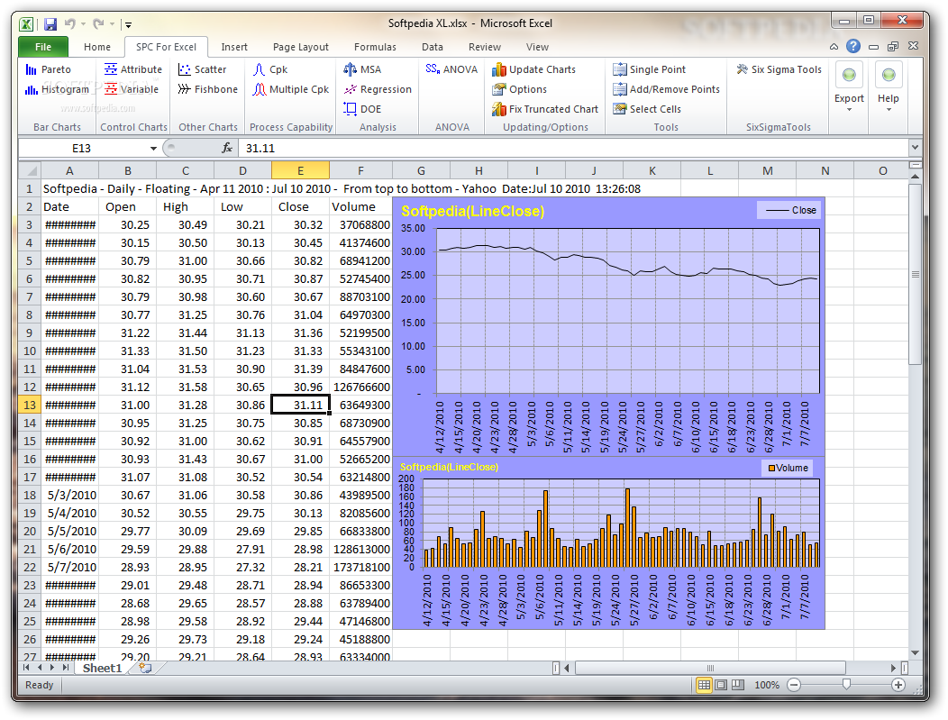 Spc software for excel free download.