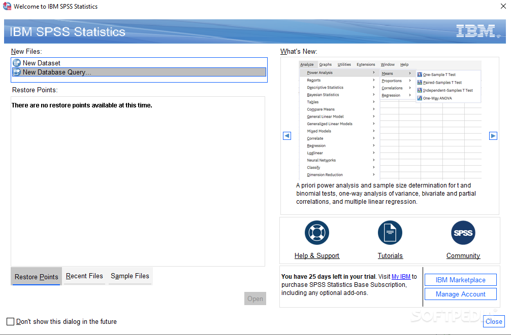 Download IBM SPSS Statistics (formerly SPSS Statistics Desktop) 26 0 0 0