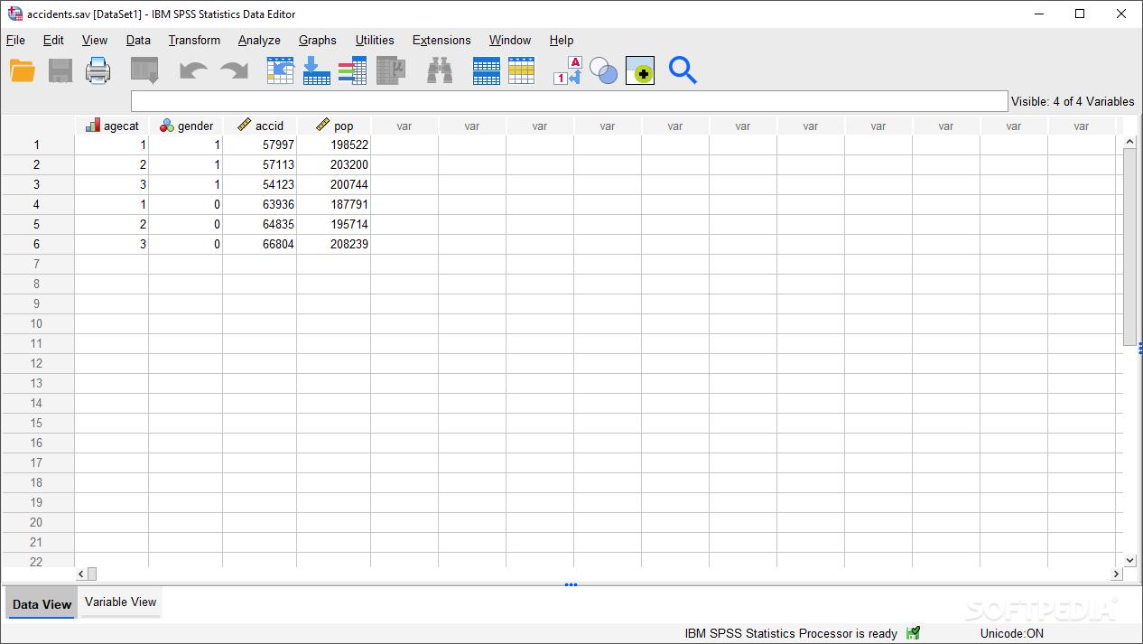 Download IBM SPSS Statistics (formerly SPSS Statistics Desktop) 26 0 0 0