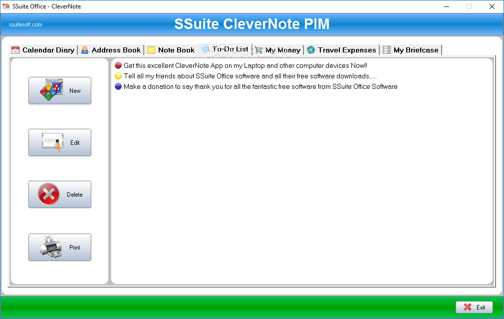 Windows10up.com Download Free SSuite Office - CleverNote PIM Portable - screenshot #4