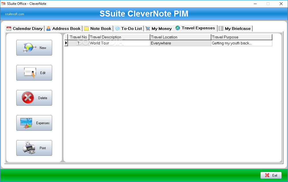 Windows10up.com Download Free SSuite Office - CleverNote PIM Portable - screenshot #6