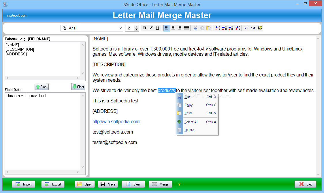 Windows10up.com Download Free SSuite Office - Letter Mail Merge Master - With the help of the