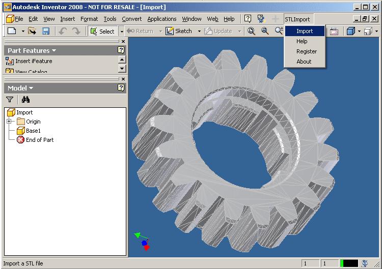 Download STL Import for Inventor 1 0