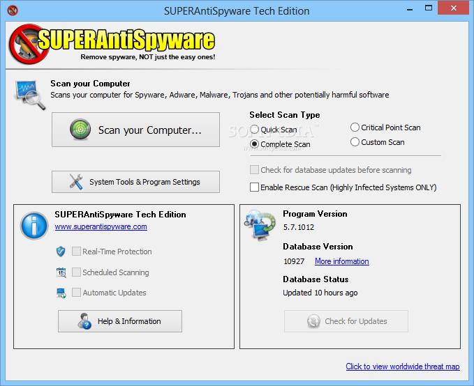 superantispyware portable scanner personal edition download