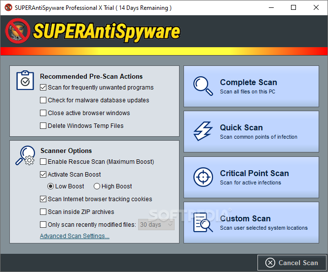 superantispyware professional