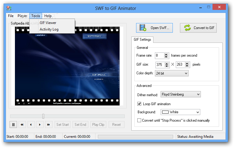 Download SWF to GIF Animator 1 0