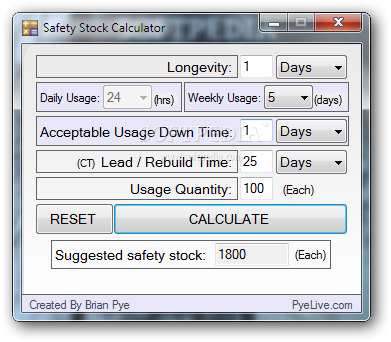 Safety Stock Calculator Download