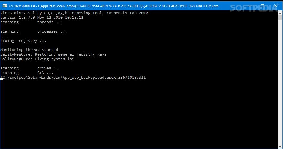 Download Kaspersky SalityKiller 1 3 7 0