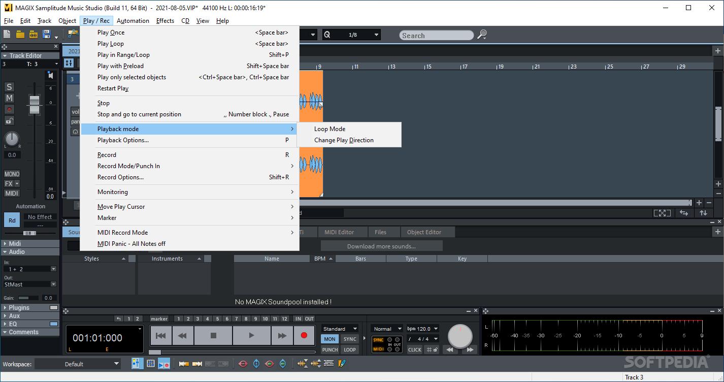 Download Magix Samplitude Music Studio 2019 24 0 0 36