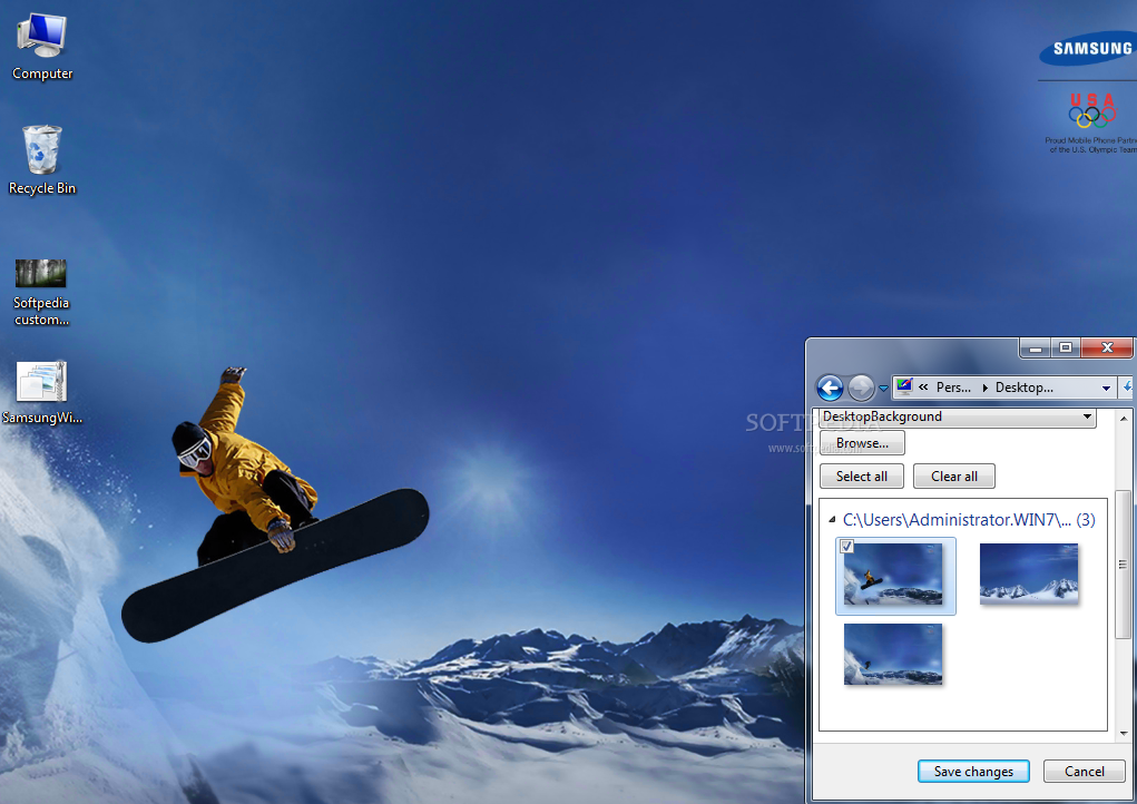 Samsung Wallpaper Themes: Samsung Winter Sports Theme Download