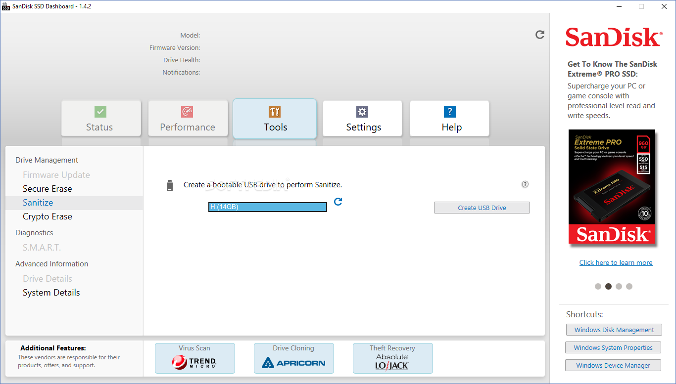Download SanDisk SSD Dashboard 2 5 1 0