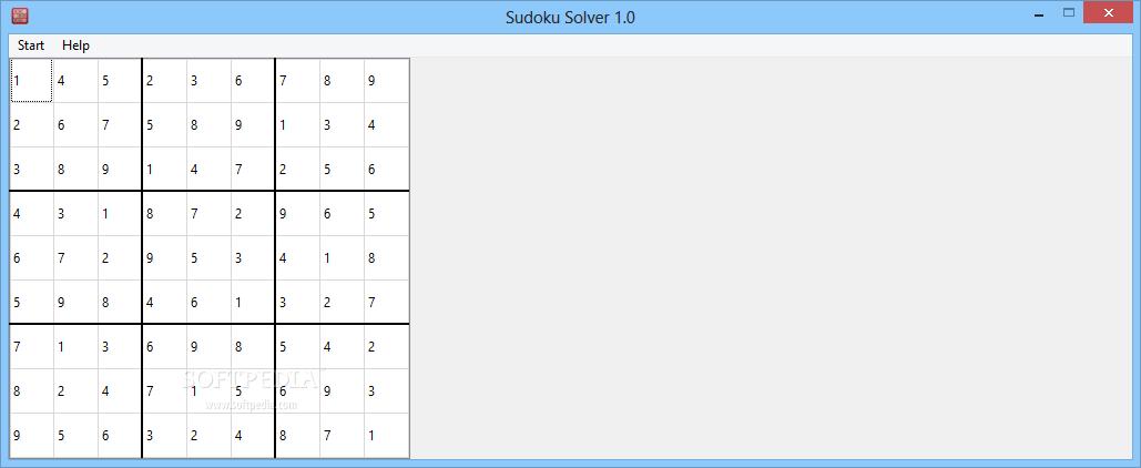 download sudoku solver 1 0