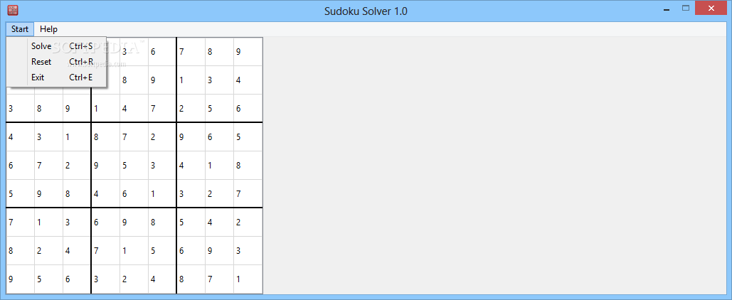 download sudoku solver 1 0