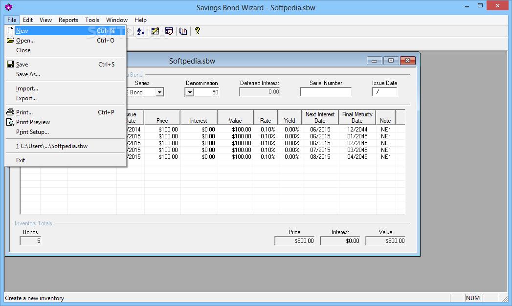 Download savings bond wizard 5. 0.