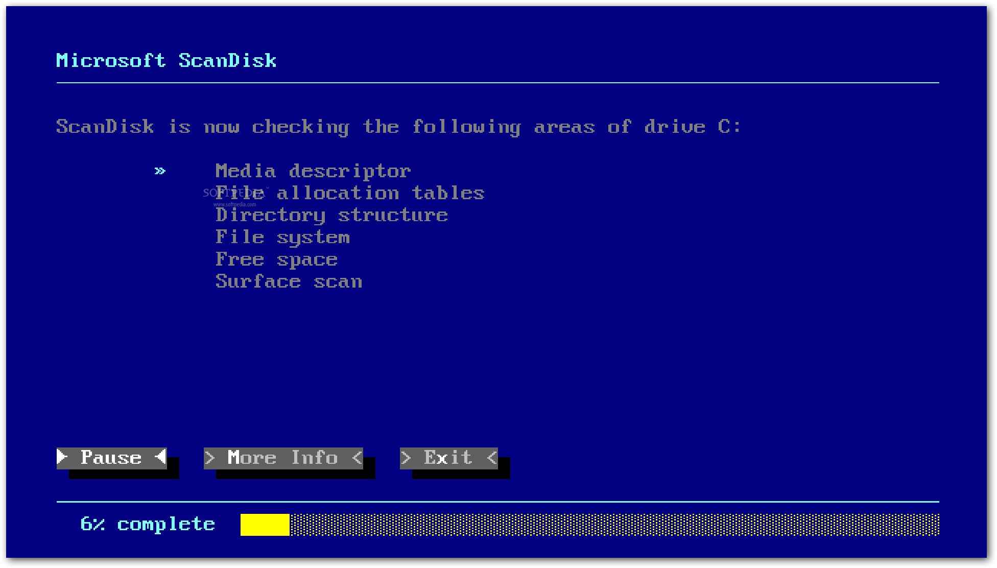 how to run scandisk win 10