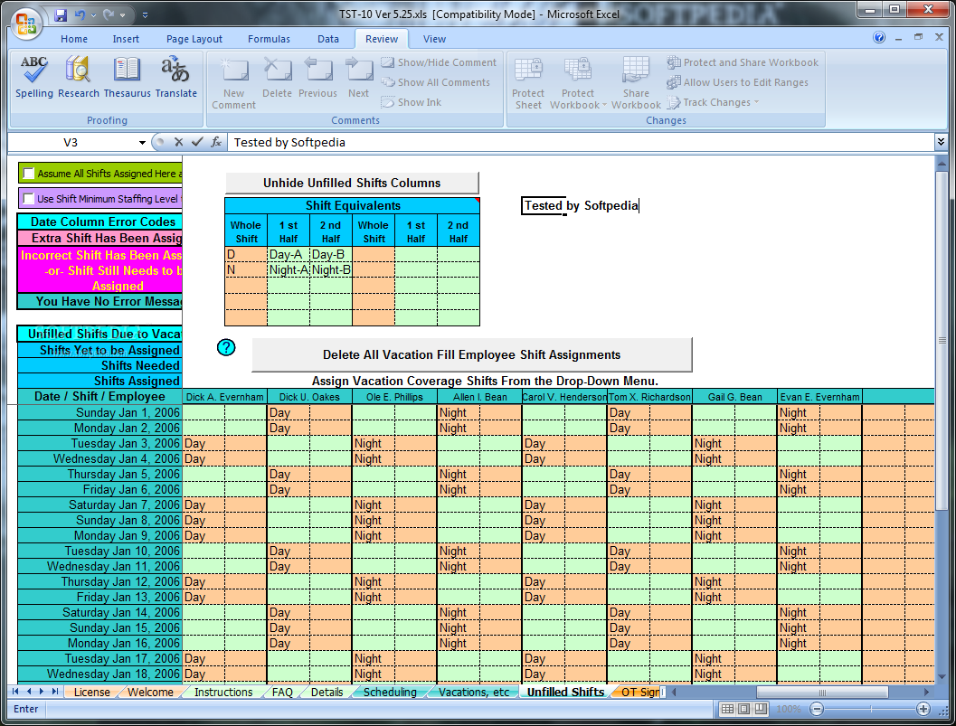 Schedule Rotating Shifts and Tasks - It keeps track of your employee ...