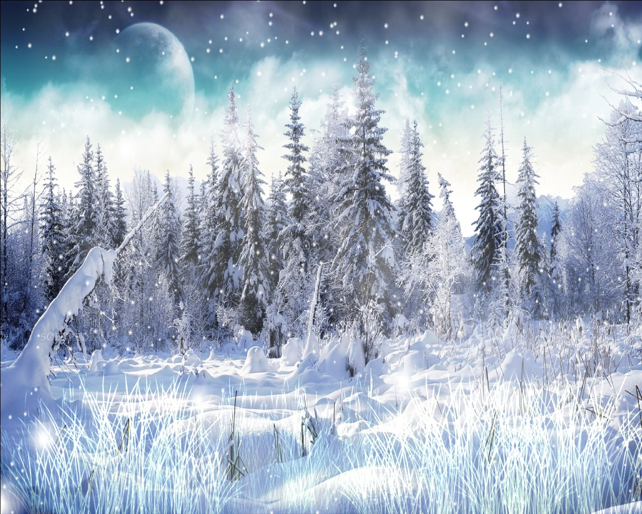 Download winter snow screensaver 1 0 - Free screensavers snowflakes falling ...