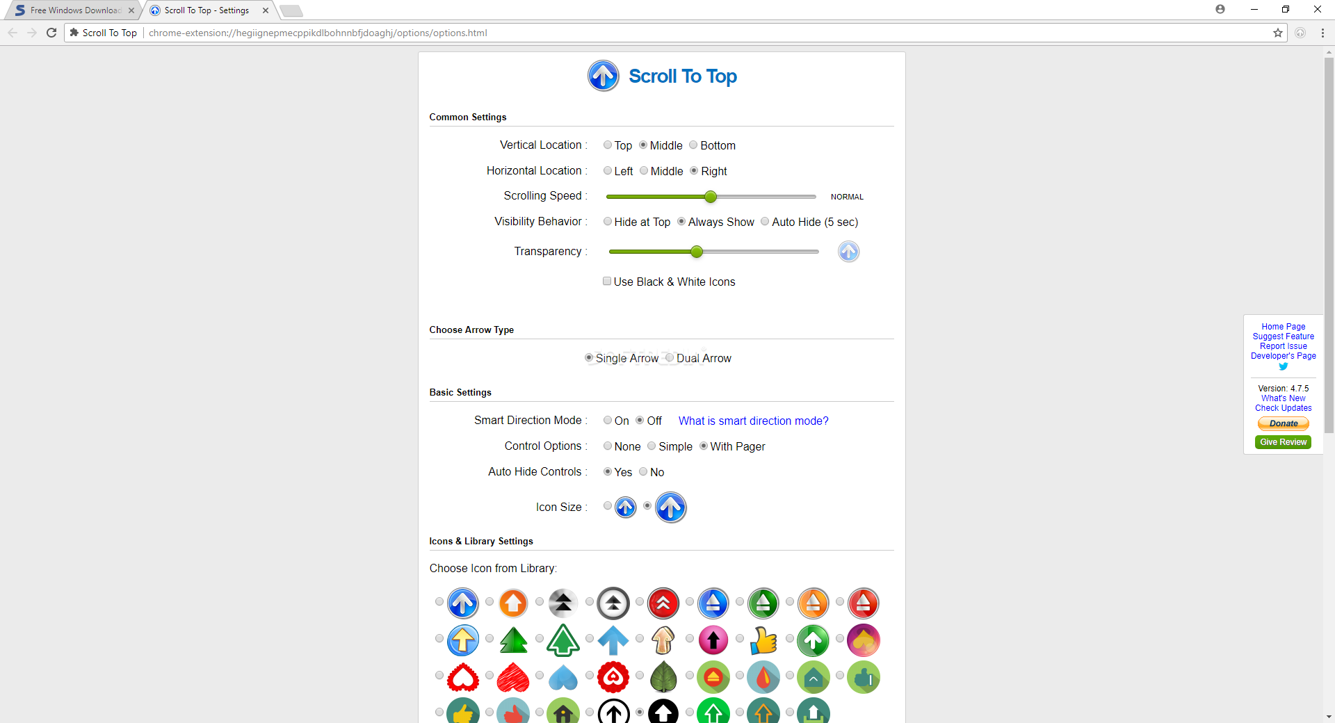 Download Scroll To Top for Chrome 4 8