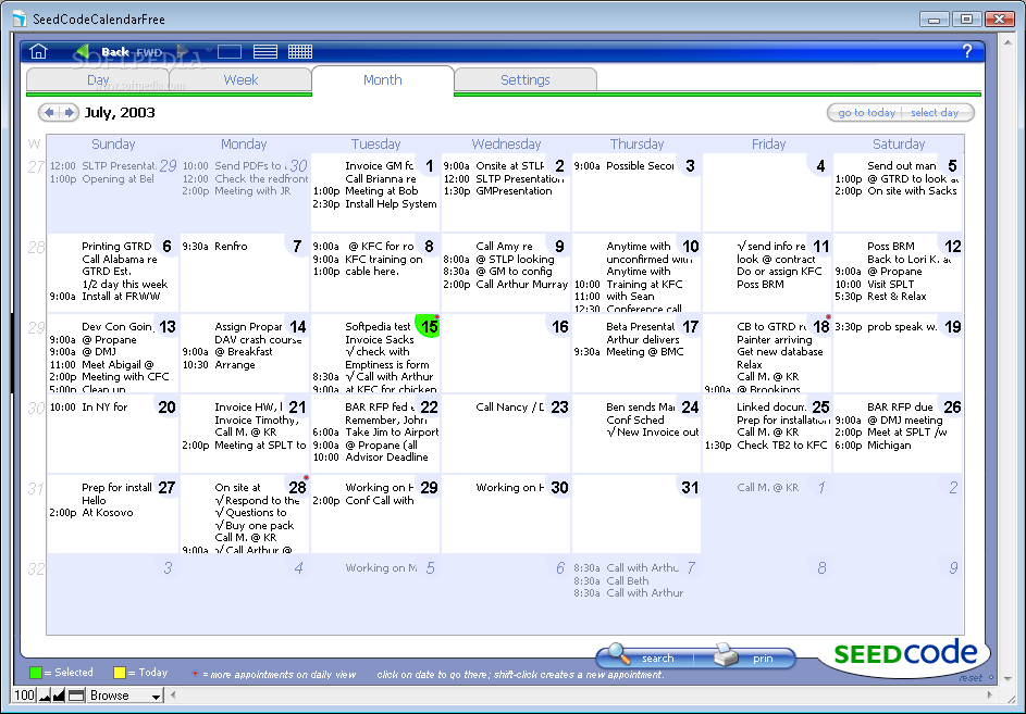 Download SeedCode Calendar Free