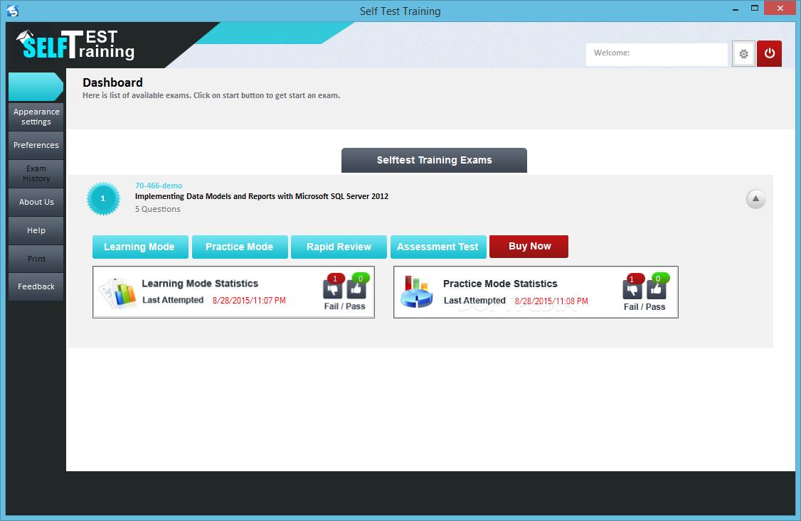 Download Self Test Training Microsoft 70 466 100