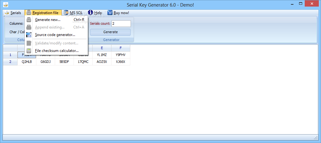 serial number generator for all software