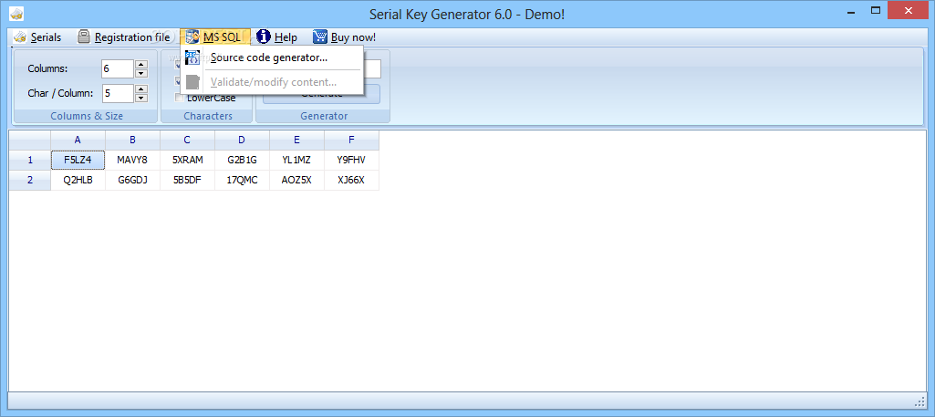 how to use serial key generator 7.0