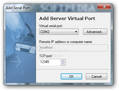 3) Specify TCP-port for incoming connections. Serial Port Redirector.