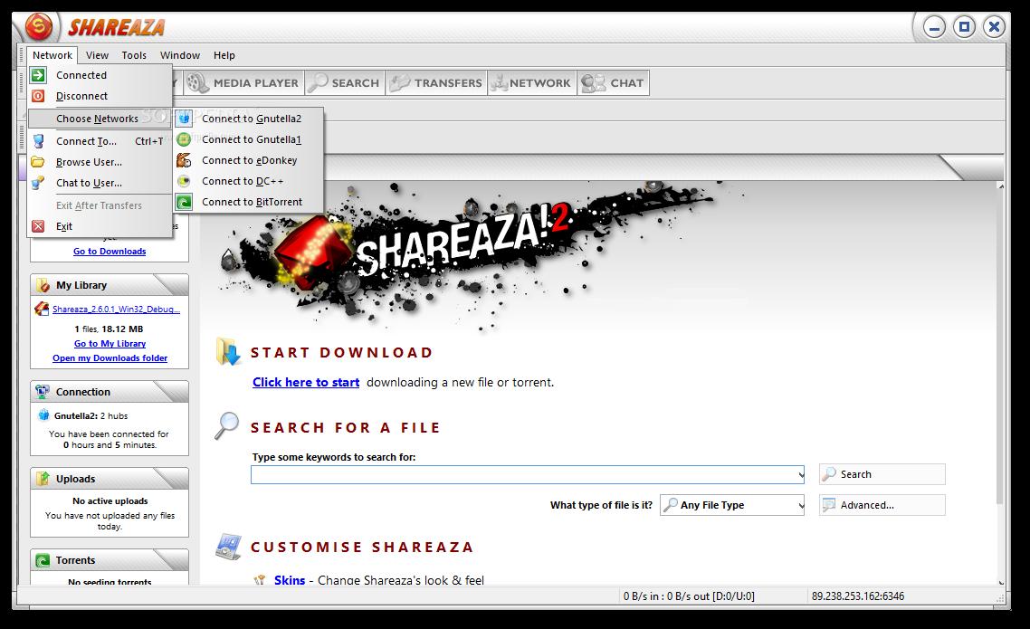 shareaza pour windows 7 64 bits