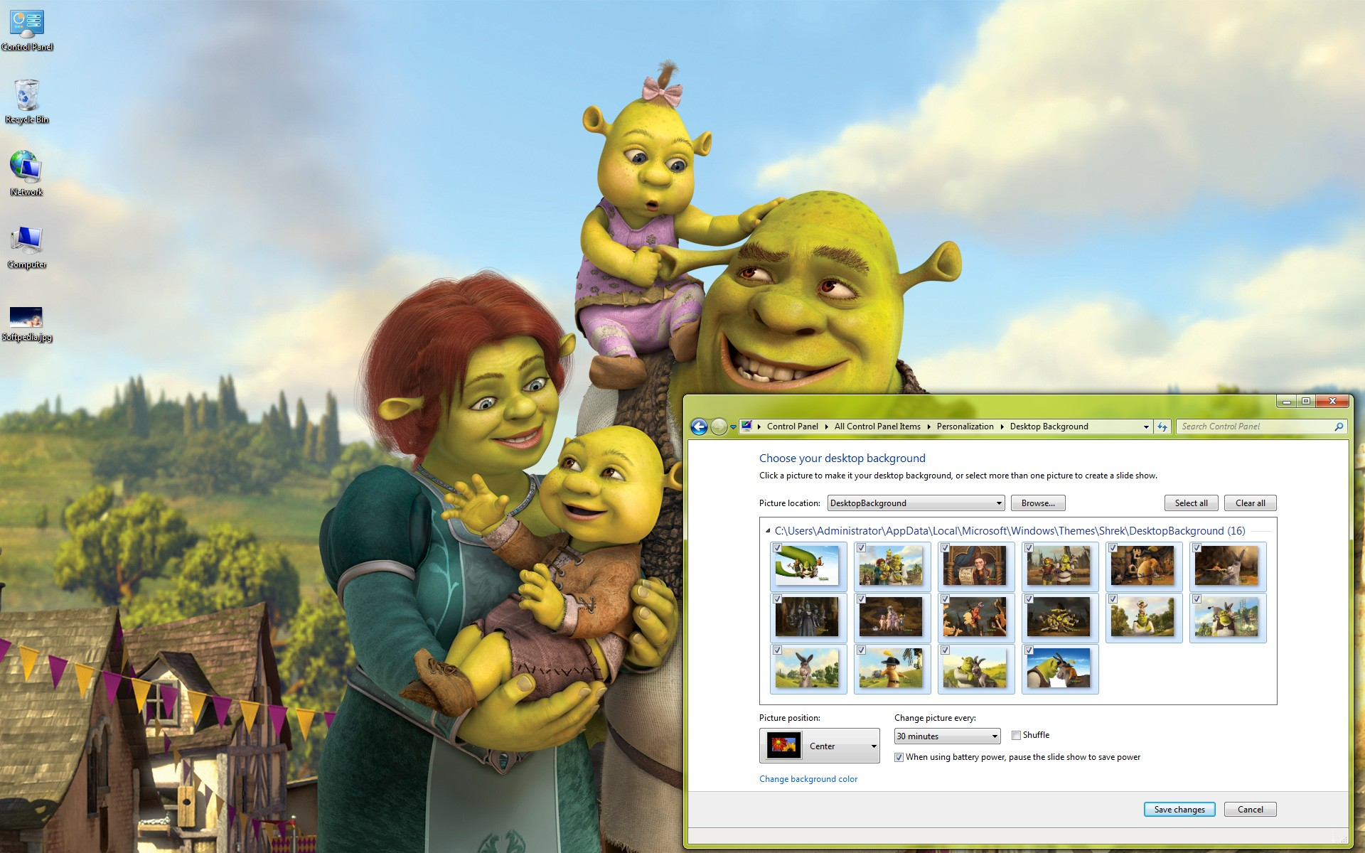 Download Shrek Forever After Windows 7 Theme