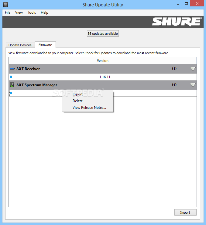 Download Shure Update Utility 2 4 5