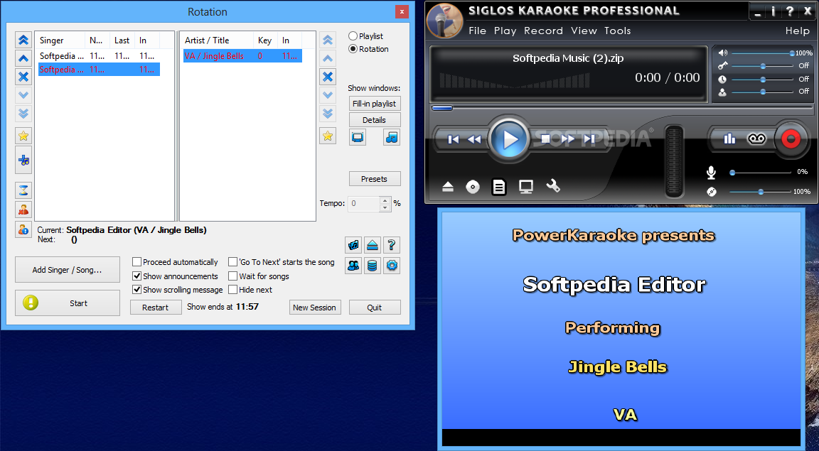 Siglos Karaoke Player/Recorder download for free - SoftDeluxe