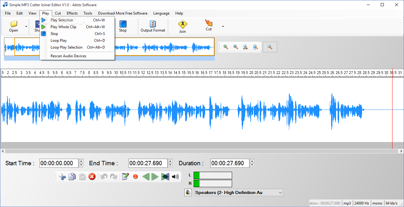 Download Simple MP3 Cutter Joiner Editor 3 0