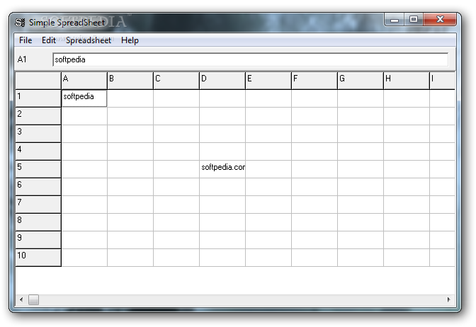 Simple Spreadsheet - Simple Spreadsheet allows user to easily and ...