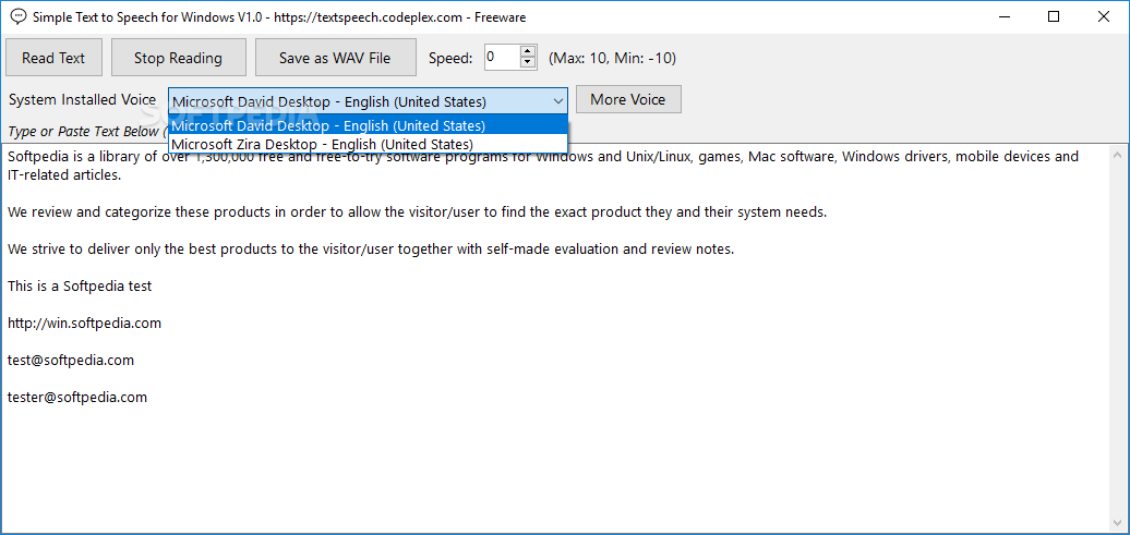 Download Simple Text to Speech for Windows 1 0 1
