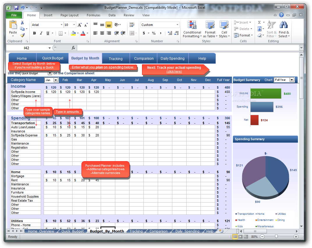 simple planning budget planner full free