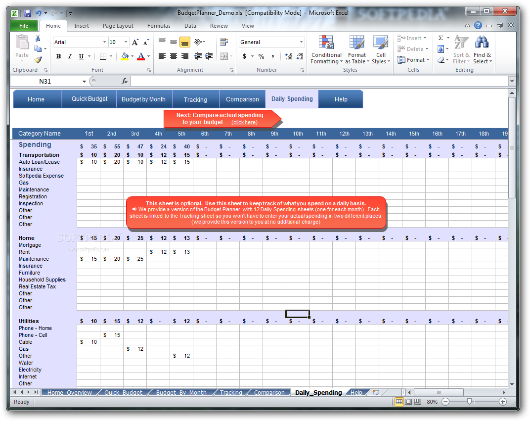 download simpleplanning budget planner