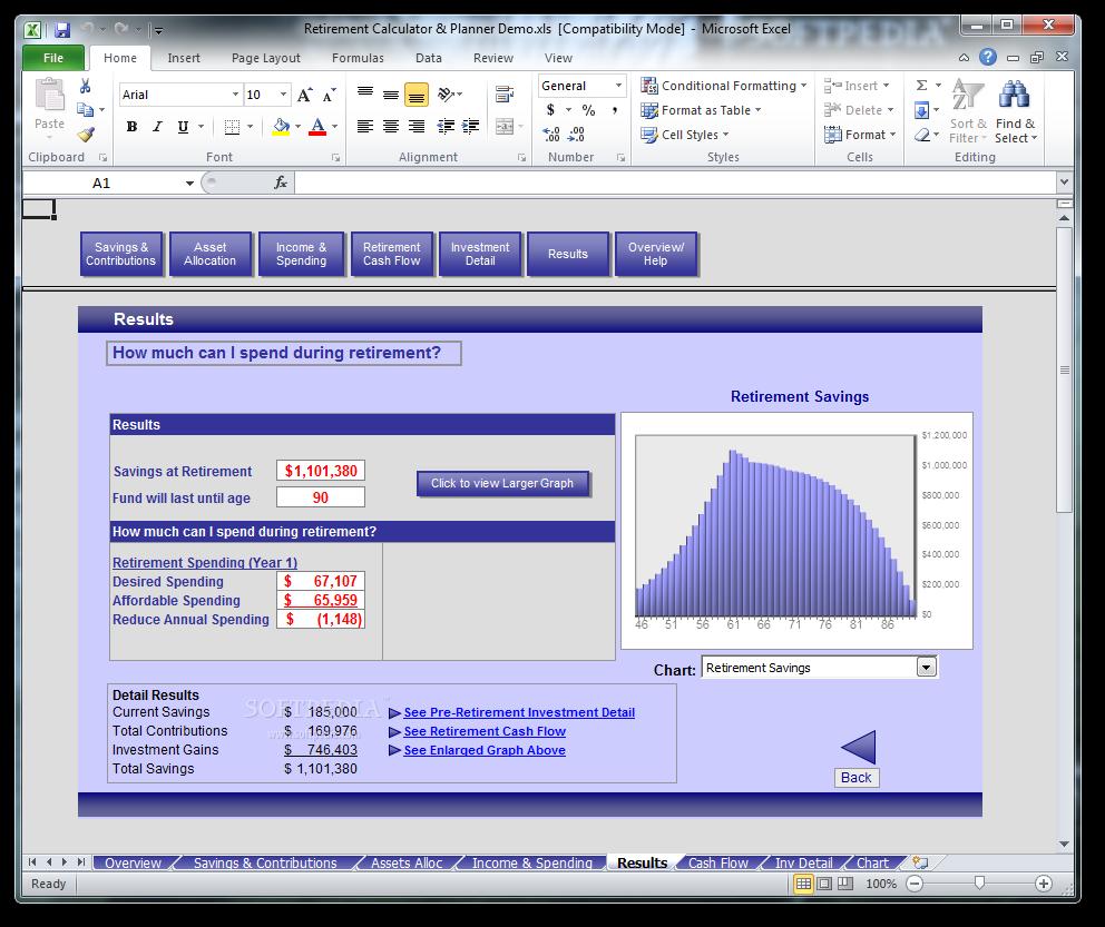 download simpleplanning retirement calculator planner