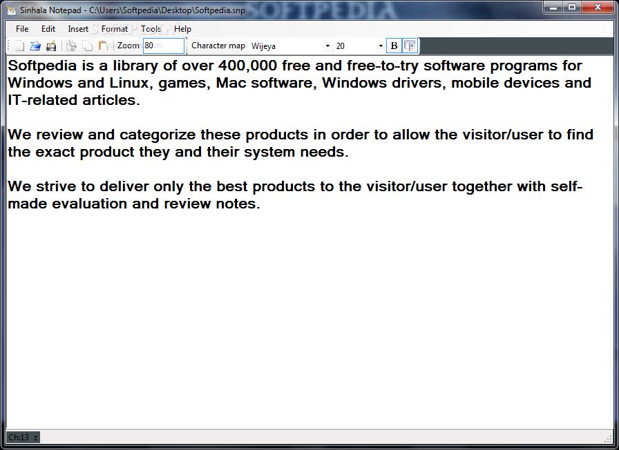 Download Sinhala Notepad 1 0