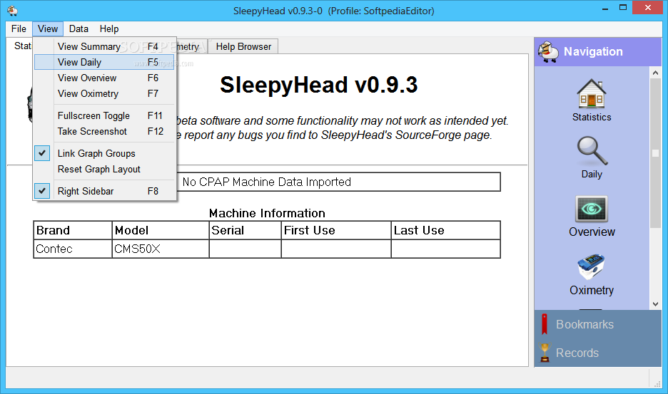 sleepyhead software