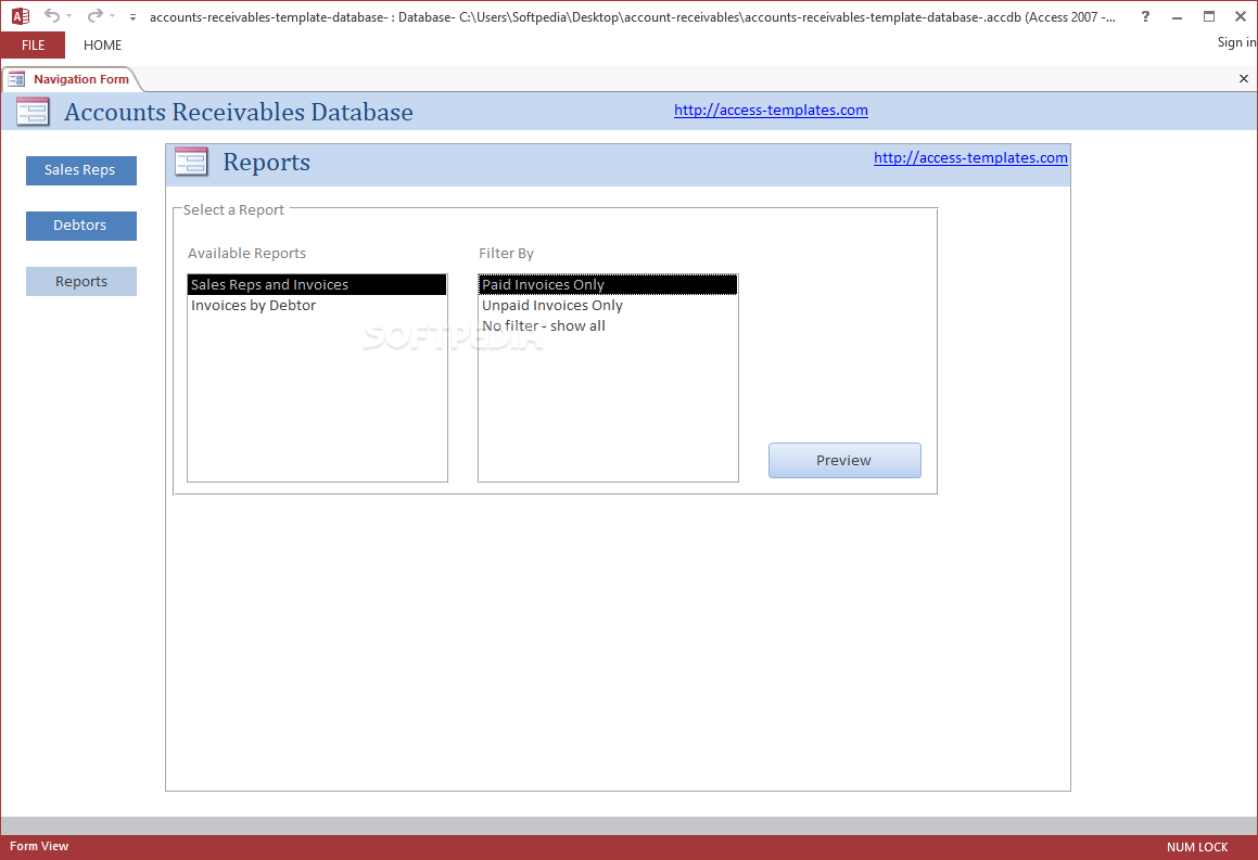 download small business accounts receivable software for microsoft access 10