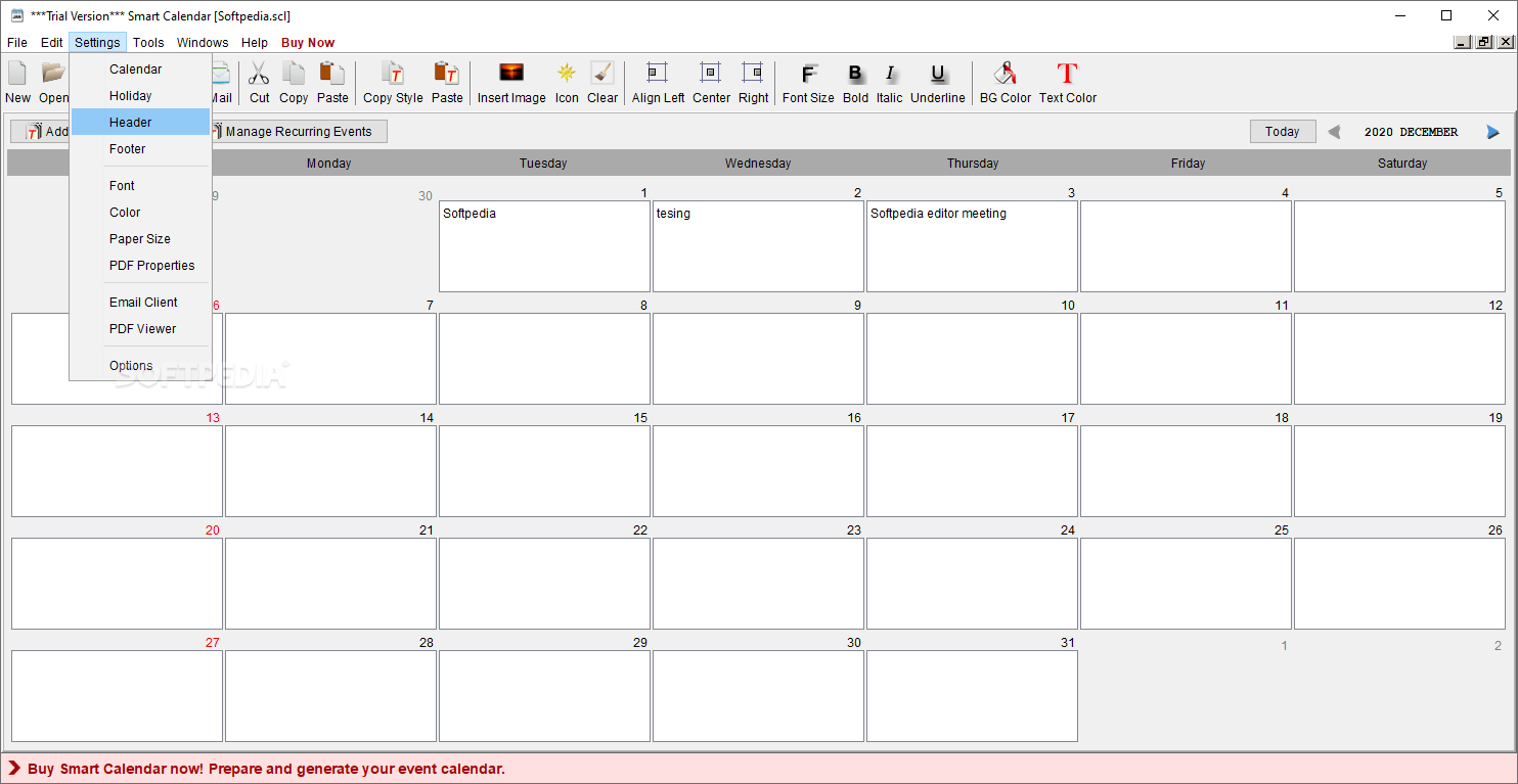 Monthly Calendar I Can Type On : Smart calendar download